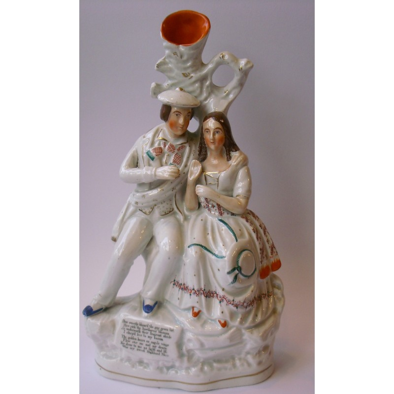 Staffordshire figure of Burns and Highland Mary