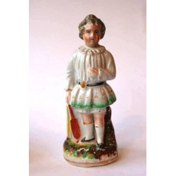 Staffordshire Pottery: Child Cricketer