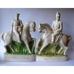 Staffordshire Pottery Pair Kitchener and French