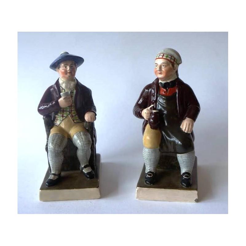 Staffordshire Pottery Tam O'Shanter and Souter Johnnie