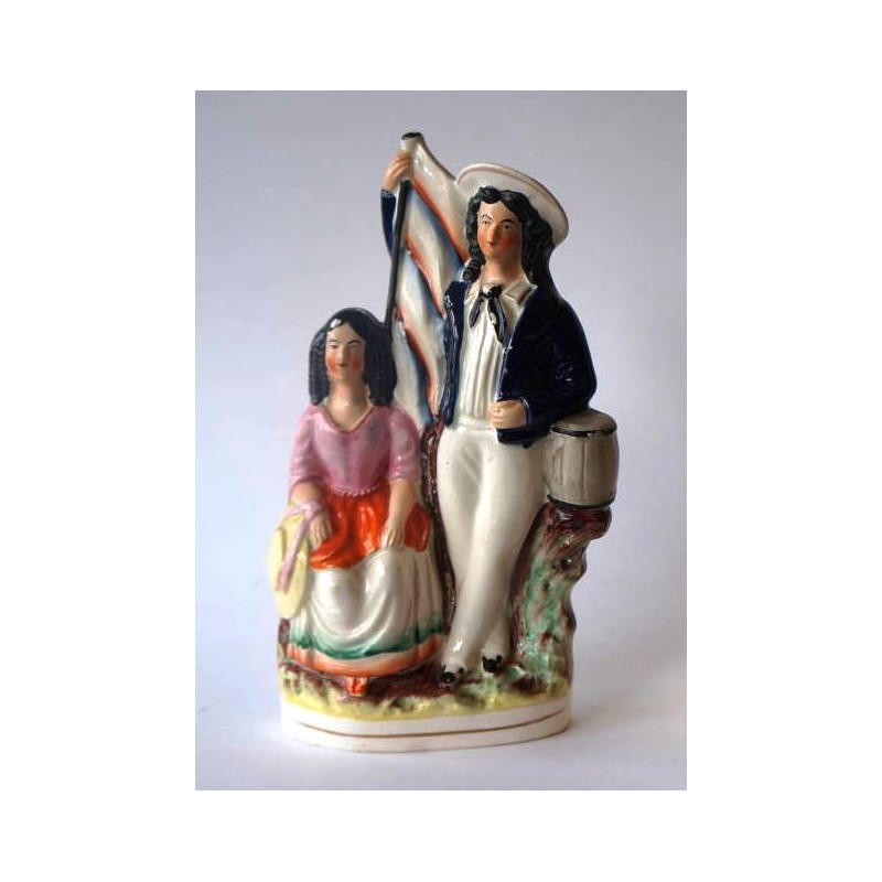 Staffordshire Pottery Sailor and his Lass