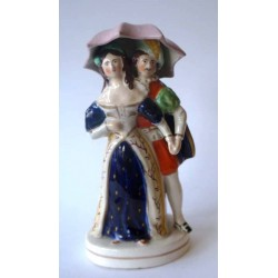 Staffordshire Pottery Courting Couple