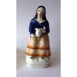 Staffordshire Pottery Woman with jug