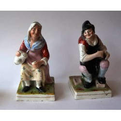 Staffordshire Pottery Jobson and Nell pair
