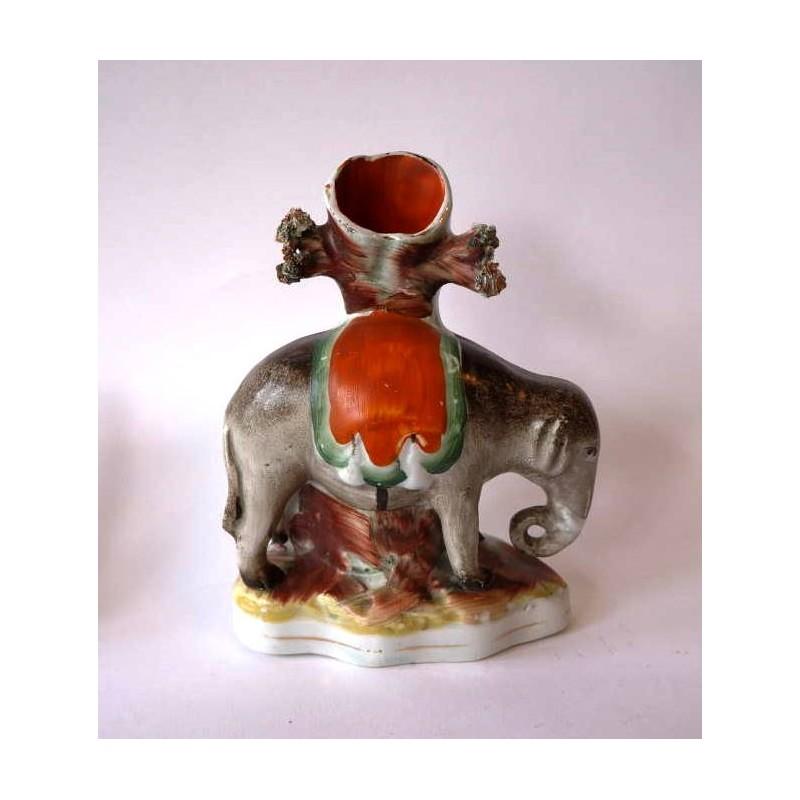 Staffordshire Pottery Elephant