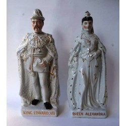 Staffordshire Pottery Edward VII and Queen Alexandra