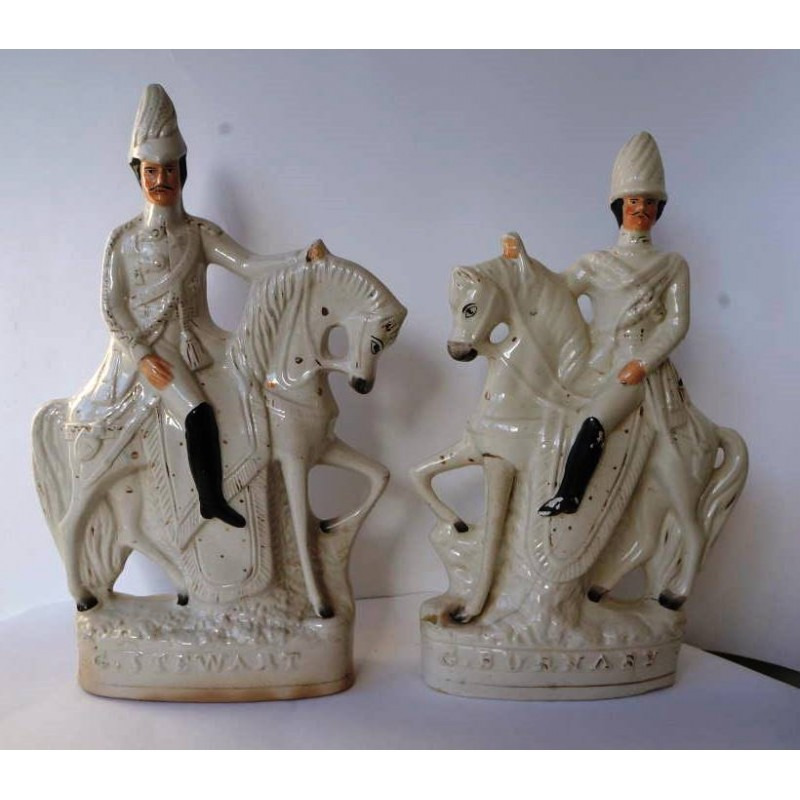 Staffordshire Pottery General Stewart and Colonel Burnaby