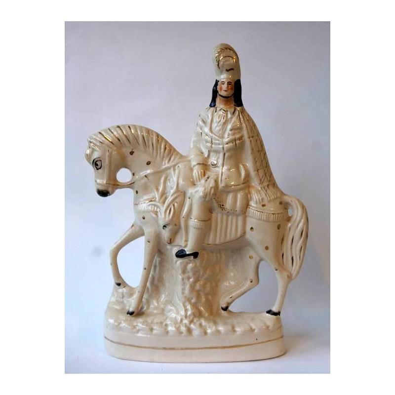 Staffordshire Pottery Equestrian Highlander