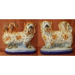 Pair of Pekenese dogs