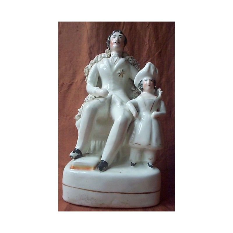 Staffordshire figure of Albert with Prince of Wales