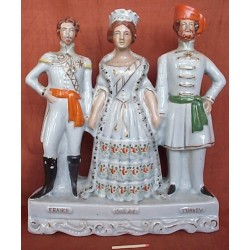 Staffordshire figure of France England Turkey