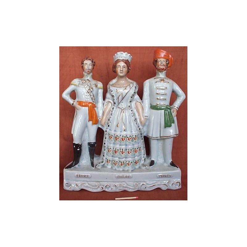 Staffordshire figure of France England Turkey