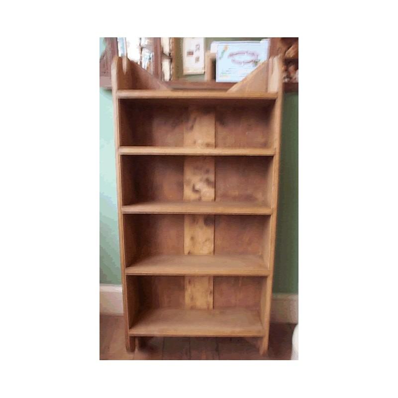 Stripped pine shelves