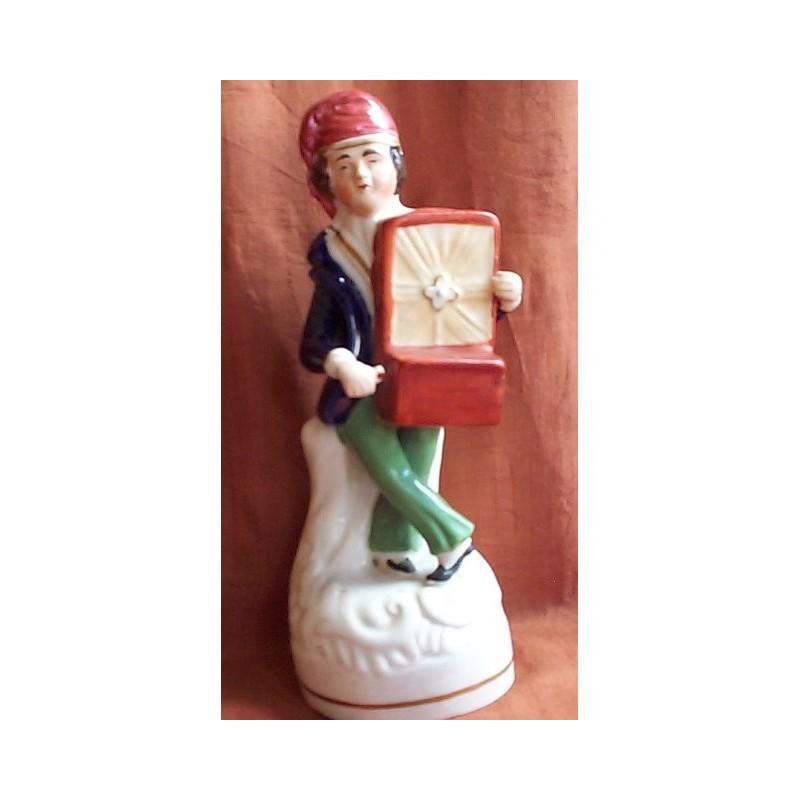 Staffordshire figure of Hurdy Girdy Player