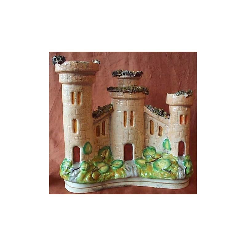 Staffordshire Pottery Castle Spill Vase