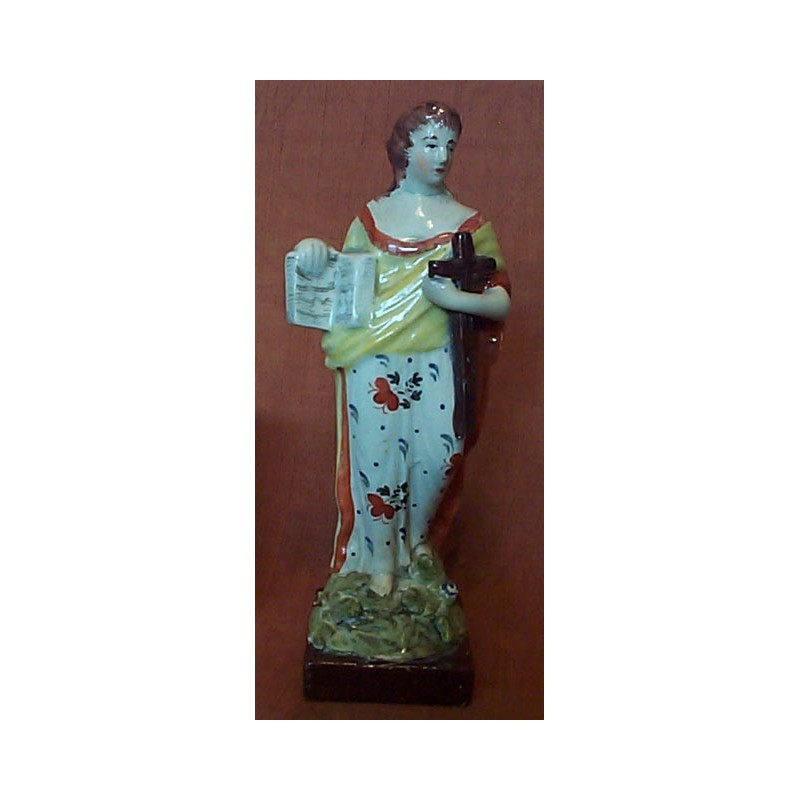 Staffordshire figure of Faith