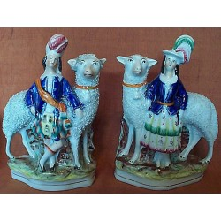 Pair. Sheep with attendants