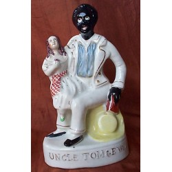 Staffordshire figure of Uncle Tom & Eva