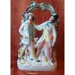Staffordshire Pottery Pair in Combat