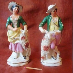 Pair Shepherd and Shepherdess