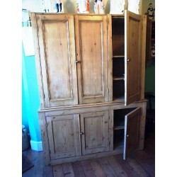 Victorian Stripped Pine Cupboard