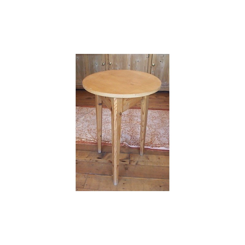 Victorian Stripped Pine Cricket Table