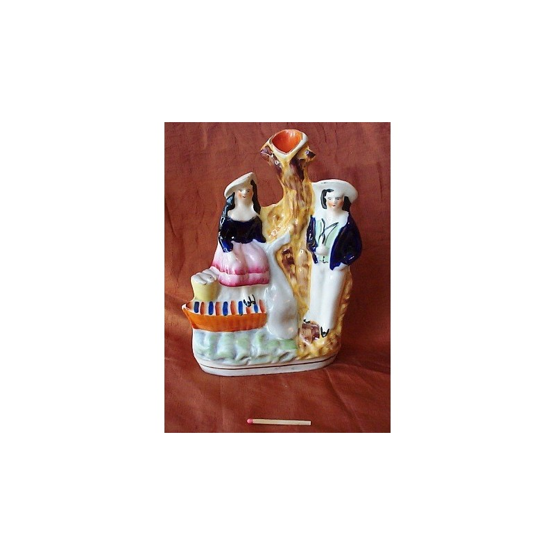 Staffordshire Pottery Sailor and Fisherwoman