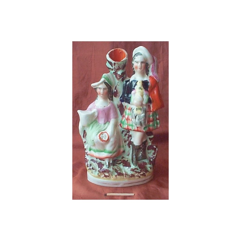 Spill vase with bird and nest