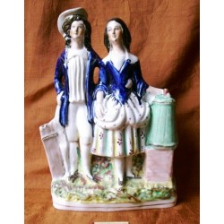 Couple with milk churn