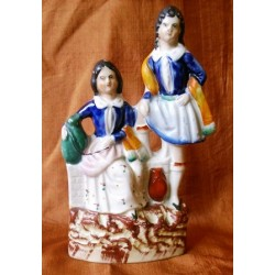 Staffordshire Pottery children with water containers