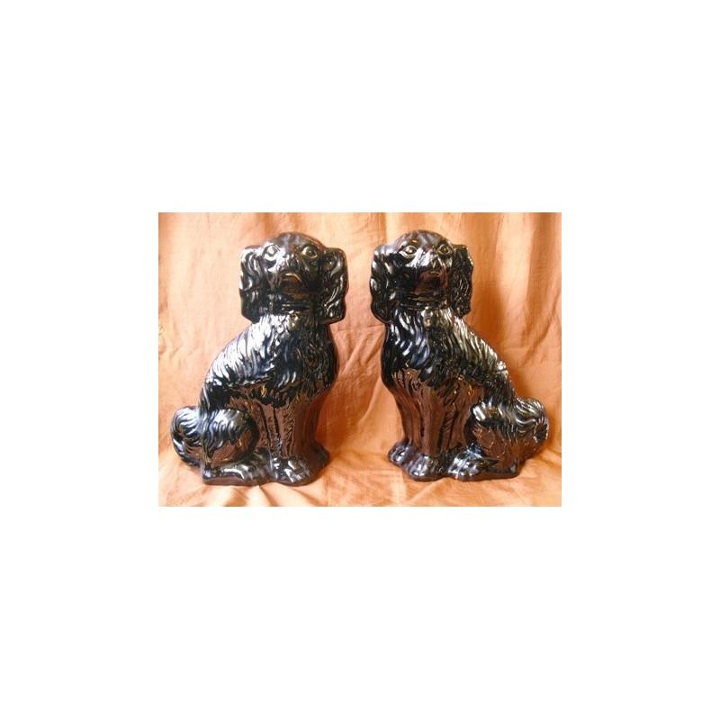 Black Spaniels, pair