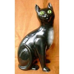 Staffordshire Pottery Black Cat