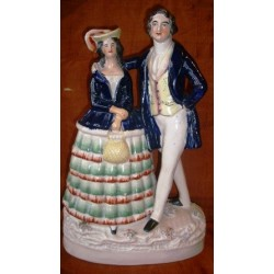Staffordshire figure of Princess Alice and Louis of Hesse