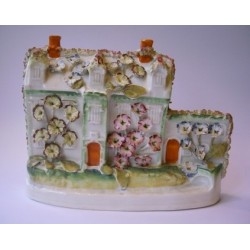 Staffordshire Pottery flower encrusted manor house