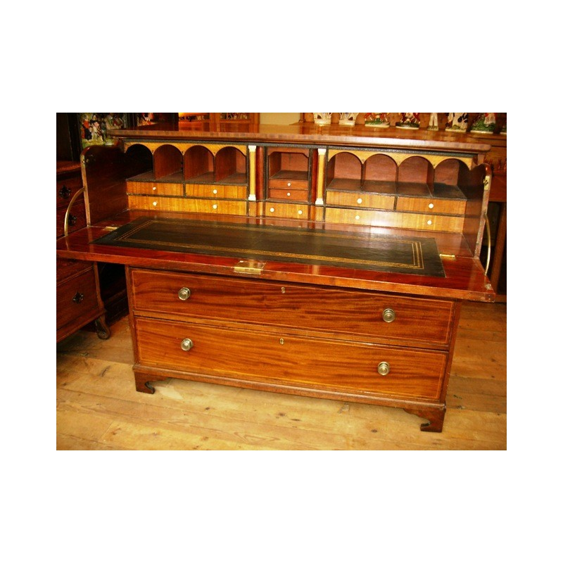 Mahogony secretaire chest