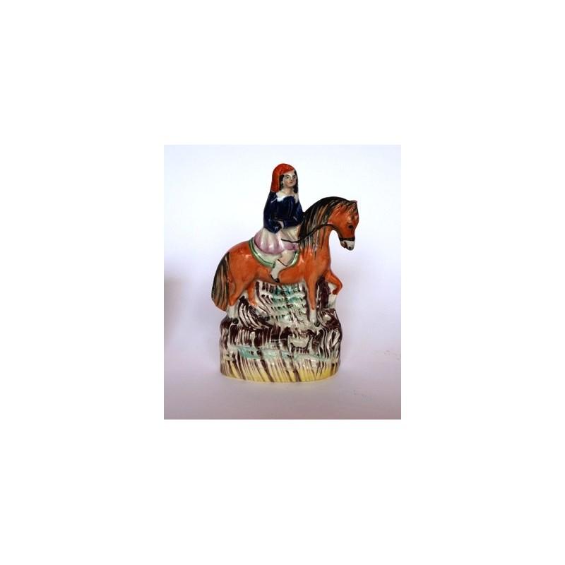 Staffordshire Pottery Equestrian