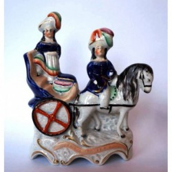 Staffordshire figure of Royal children with pony and trap