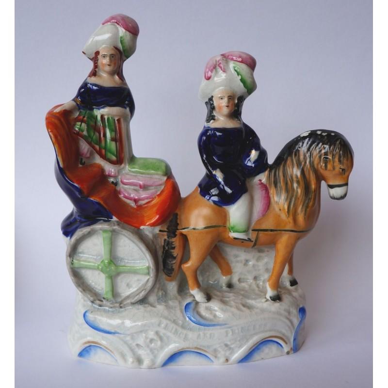 Royal children in pony trap