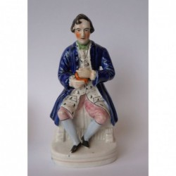 Staffordshire figure of Robert Burns