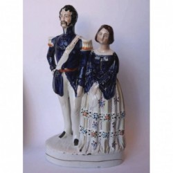 Staffordshire figure of Princess Royal & Prince Frederick William of Prussia