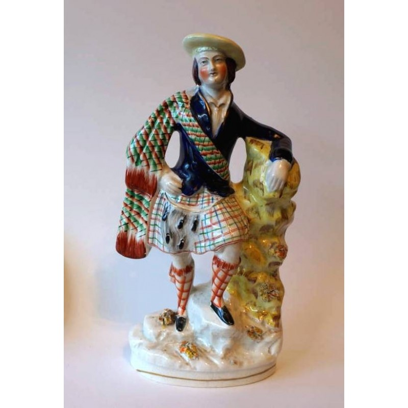 Staffordshire figure of a Scotsman - possibly Prince of Wales