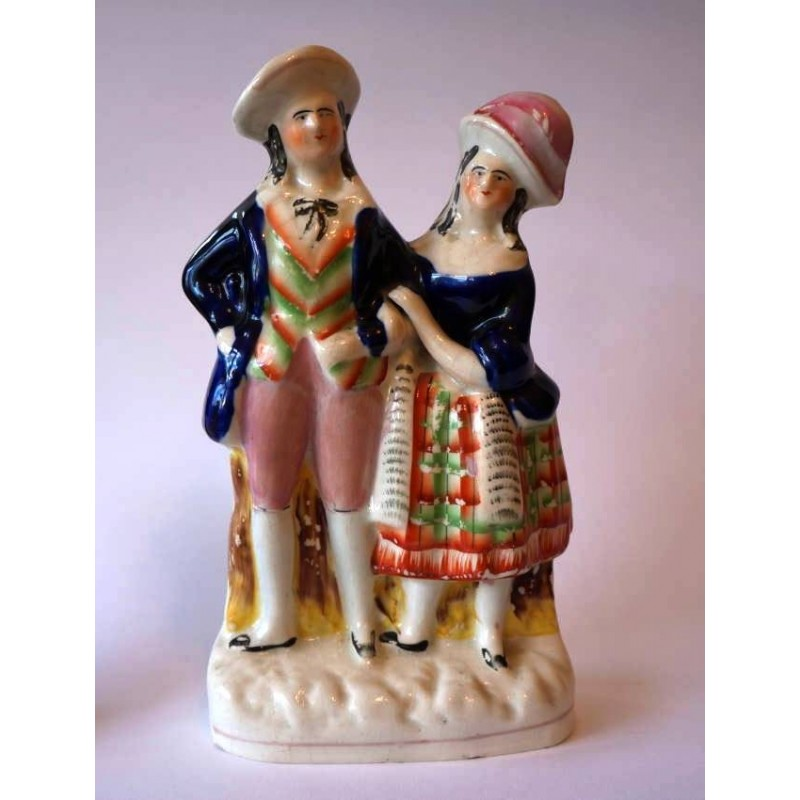 Staffordshire Pottery Couple