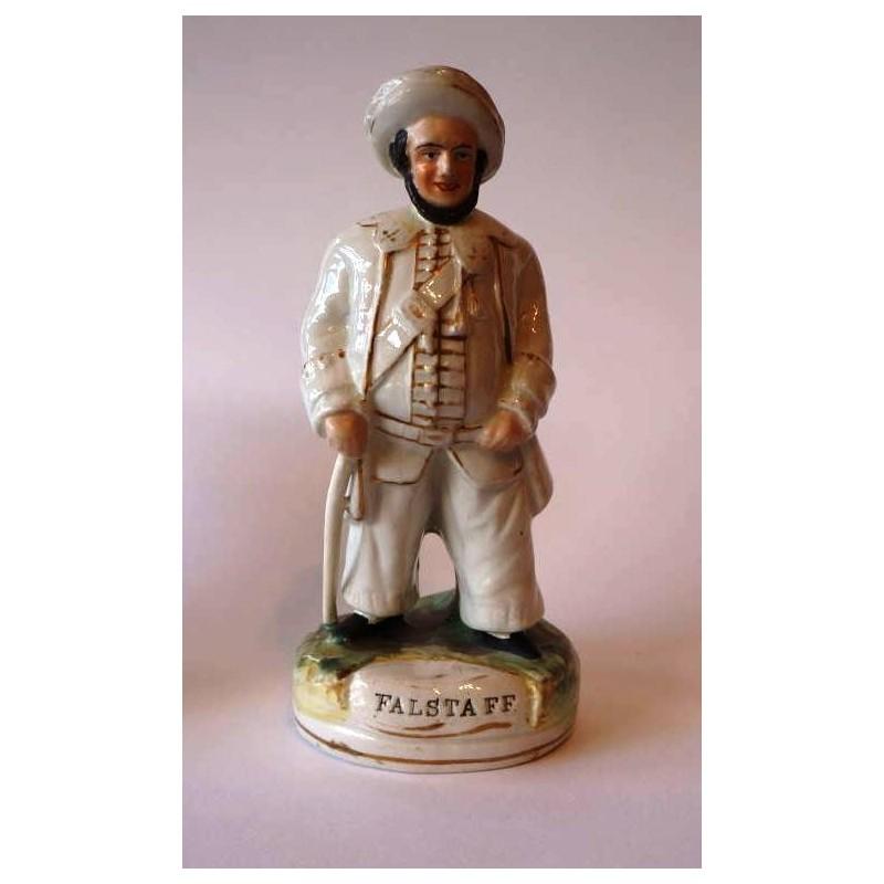 Staffordshire figure of Falstaff