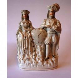 Staffordshire figure of Lady Macbeth and Hamlet (Shakespeare)