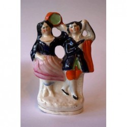 Staffordshire figure of Esmeralda and Gringoire