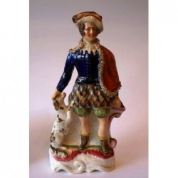 Staffordshire Pottery gentleman with dog