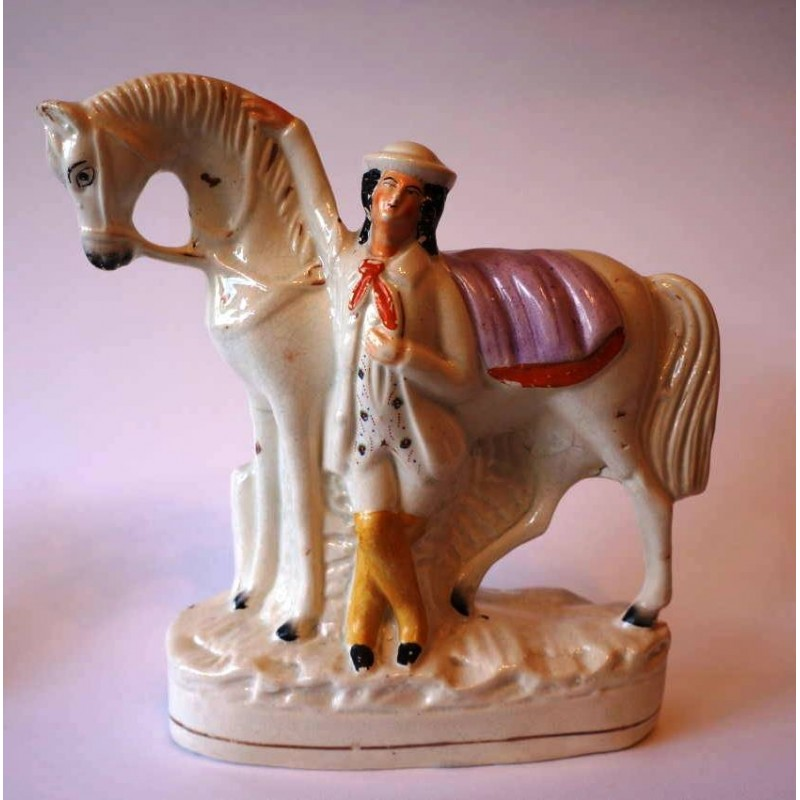 Horse and attendant