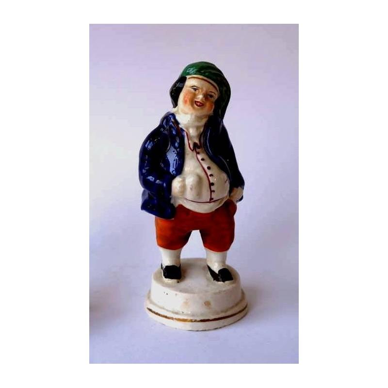 Staffordshire Pottery portly figure