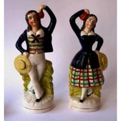 Staffordshire Pottery dancing sailor and companion