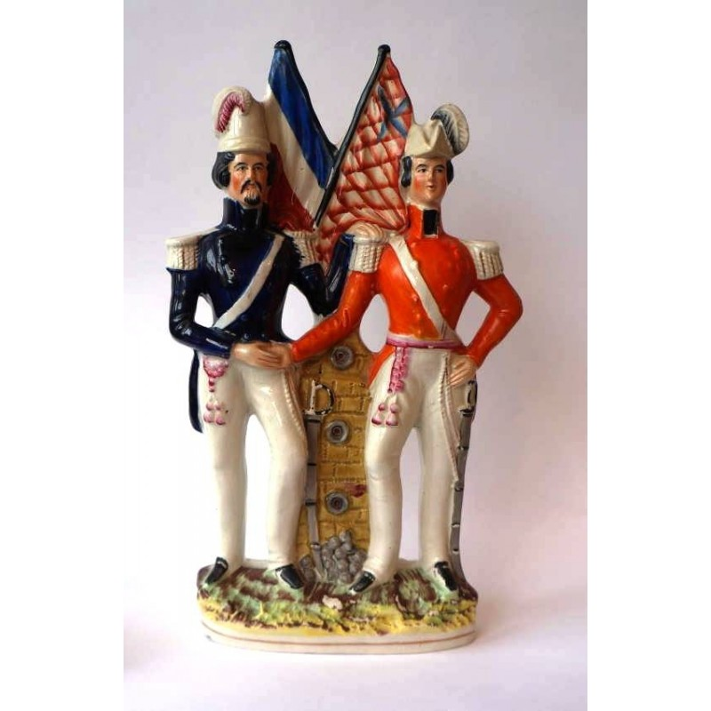 Staffordshire figure of Albert and Napoleon